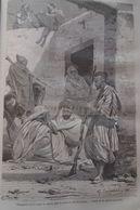 Old Illustration Of Arab Prisoners In Ouargla - Algeria ,  -gravure-engraving 1863 TDM1863.2.189 - Prints & Engravings