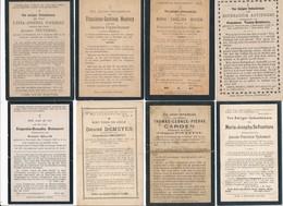 Oostende / 8x Doodsprent / Bidprent / Data Overlijden Tussen 1894 - 1923 - Devotieprenten