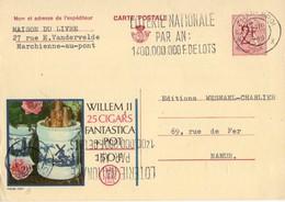 Publibel - 2264 F - WILLEM II 25 CIGARS FANTASTICA - LOTERIE NATIONALE - MARCHIENNE-AU-PONT - 27 JANVIER1968. - Publibels