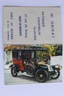 Petit Calendrier 1966 Offert Par Patissier Confiseur Glacier Chagny En Bourgogne Limousine Renault 1906 - Calendriers