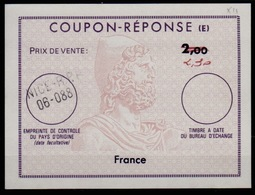 FRANCE Reply Coupon Reponse (E) Ex12 Antwortschein IAS 2,30 / 2,00 issued NICE RPR - 06-088 - Coupons-réponse