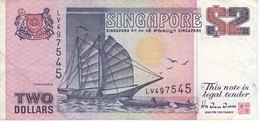 BILLETE DE SINGAPORE DE $2   (BANKNOTE) BARCO-SHIP - Singapore