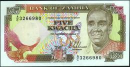 ZAMBIA - 5 Kwacha Nd.(1989) UNC P.30 - Zambie