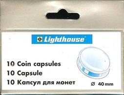 LEUCHTTURM - CAPSULES Pour MONNAIES De 40 Mm (Boîte De 10 Capsules) - Matériel