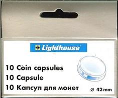 LEUCHTTURM - CAPSULES Pour MONNAIES De 42 Mm (Boîte De 10 Capsules) - Matériel