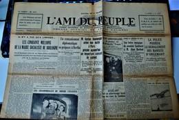 Rare Journal L'ami Du Peuple 10 Août 1934 - Other