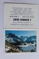 Petit Calendrier 1992 Offert Par L Espace Vert CHAUSSIN 39 Paysage Lac De Montagne - Calendriers