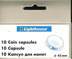 LEUCHTTURM - CAPSULES Pour MONNAIES De 43 Mm (Boîte De 10 Capsules) - Matériel