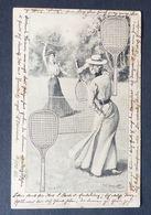 AK  Tennis Frau Mit Tennisschläger  Um 1900 Femme Avec Une Raquette De Tennis  #AK6086 - Tennis