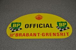 Rally Plaat-rallye Plaque Plastic: 32e Brabant-grensrit OFFICIAL 1975 RAC-zuid BP - Rallye (Rally) Plates