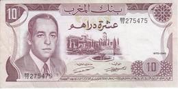 BILLETE DE MARRUECOS DE 10 DIRHAMS DEL  AÑO 1970  (BANKNOTE) - Marokko