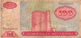 AZERBAIJAN 100 MANAT 1993 P-18a CIRC. - Aserbaidschan