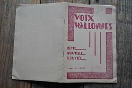 VOIX WALLONNES N°5 1935 Tournai Régionalisme Gustave Camus Roman La Rose D'Enghien (Moulinasse) Geo Libbrecht - Cultural