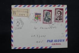 ALGÉRIE - Oblitération De Fort Flatters Oasis Sur Enveloppe En Recommandé En 1961 En FM Pour SP 87515 - L 57054 - Algeria (1924-1962)