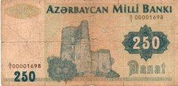 AZERBAIJAN 250 MANAT 1992 P-13a CIRC - Aserbaidschan