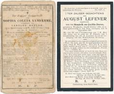 Westkerke / 2x Doodsprent / Bidprent / 1887 / 1907 - Devotieprenten