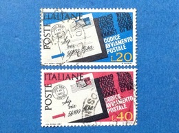 1967 ITALIA CODICE AVVIAMENTO POSTALE FRANCOBOLLI USATI STAMPS USED - 6. 1946-.. Repubblica