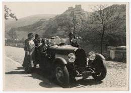 Voiture En Campagne Avec Ses Occupants Devant, Tirage Originale D'époque (Snapshots)  FG0096 - Automobiles