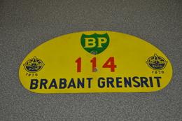 Rally Plaat-rallye Plaque Plastic: 27e Brabant-grensrit 1970 RAC-zuid BP - Rallye (Rally) Plates