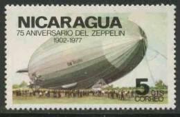 "Nicaragua 1977 Mi 1980 **  ""Graf Zeppelin"" On Ground – 75th Ann. First Zeppelin Flight / Luftschiff - Zeppelins"