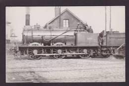 CPA Train Locomotive Gros Plan Carte Photo à Identifier Non Circulé - Trains