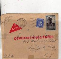 AMERIQUE- ENVELOPPE BY CLIPPER AVION  CHARLES STARR 502 WEST 113 TH STREET- NEW YORK- USA - LIMOGES 1939- - 1921-1960: Modern Tijdperk