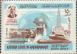 Ref. 162582 * NEW *  - KATHIRI. State Of Hadhramaut . 1967. EXPO 67. WORLD EXHIBITION. EXPO 67. EXPOSICION UNIVERSAL DE - Arabia Saudita