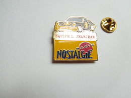 Beau Pin's , Auto Porsche , Equipe L. Jeanjean , Média Radio Nostalgie - Porsche