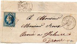 Drôme - S/devant N° 29A Obl GC 3677 St-Jean-en-Royans - 1863-1870 Napoléon III Lauré