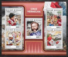 GUINEE BISSAU Feuillet  N° 7019/23 * * ( Cote 19e )  Croix Rouge Sauvetage Henry Dunant - Henry Dunant