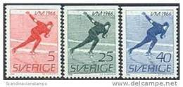 ZWEDEN 1966 WK Schaatsen Serie PF-MNH - Schweden