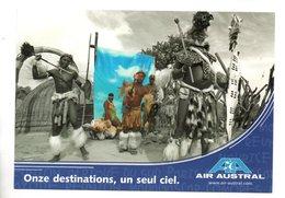 """AFRIQUE DU SUD . """" LES ZOULOUS DE SHAKALAND """" . PUBLICITÉ AIR AUSTRAL - Ref. N°24661 - - Afrique Du Sud"""