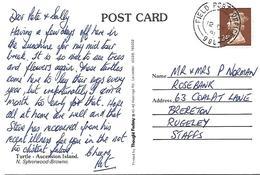Ascension 1991 FPO 998 24p Machin Non-philatelic Military Forces Viewcard - Ascensione
