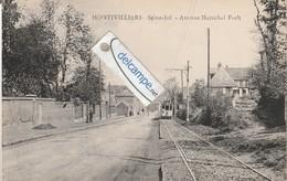 MONTIVILLIERS : Avenue Maréchal Foch,Tramway. édit Lemaine. - Montivilliers