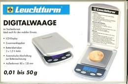 LEUCHTTURM - BALANCE DIGITALE 1/100e (Jusqu'à 50 Gr) - Matériel