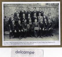 SOURDEVAL  (50)   Conscrits De La Classe 1945 - Guy Degrenne, Jean Gachet, André Bruno, Joseph Michon, René Gueunet . - Repro's
