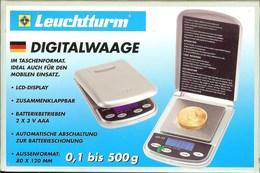 LEUCHTTURM - BALANCE DIGITALE 1/10e (Jusqu'à 500 Gr) - Matériel