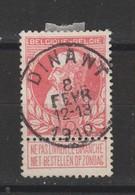 COB 74 Oblitération Centrale DINANT - 1905 Breiter Bart
