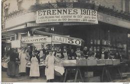 A Identifier. Cpa Photo Des Halles Commerciales à Neuilly Sur Seine En 1911, Ticket Etrennes Decembre 1911. - Te Identificeren