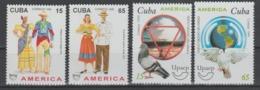 CUBA   1996+99   **   MNH  YVERT    3564/65+3838/39    UPAEP - Cuba