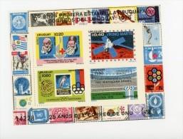 Uruguay 1976-Croix Rouge-H Dunant-JO Montréal,Viking-UIT-Mi B31*****MNH - Südamerika