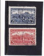 Czechoslovakia  Tchécoslovaquie YVERT N°238-9, 1926 Gest ⊙ Mi 253, 254, Oblitere, Gebraucht - Tschechoslowakei/CSSR