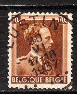 427  Leopold III Col Ouvert - Bonne Valeur - Oblit. Centrale LUSTIN - LOOK!!!! - 1936-1957 Collar Abierto
