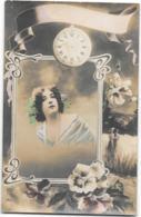 CPA  ....FEMME... ..ARTISTIQUE.    ..  ART NOUVEAU...ILLUSTRATION .E. MYCHO...  SCAN  ...1916.. - Women