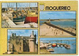 MOGUERIEC (29.Finistere) Multivues. Le Port, Bateaux De Pêche, Plage, Chateau - Autres Communes