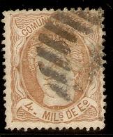 España Edifil 104 (º)  4 Mill Escudo  Sepia  Alegoría España  1870  NL1466 - Used Stamps