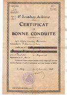VP17.000 - METZ 1925 - Certificat De Bonne Conduite Soldat Henri BRIZARD 6 ème Escadron Du Train - Documents