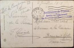 Cpa, Zürich, Tonhalle,1918, Cachet Ambassade France, Service Internement Des Prisonniers De Guerre En Suisse, Militaria - ZH Zurich