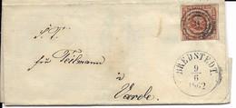 Lettre Pour Bredstedt   1862 - 1851-63 (Frederik VII)