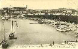 CPA - France - (06) Alpes Maritimes  - Cannes - Les Allées Et Le Mont Chevalier - Cannes